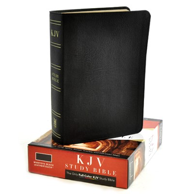 KJV Study Bible, Black Mantova imitation leather  -