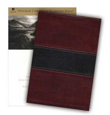 HCSB Large Print UltraThin Reference Bible, Mahogany imitation leather, indexed  -