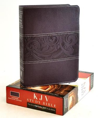 KJV Study Bible, Lavender imitation leather  -