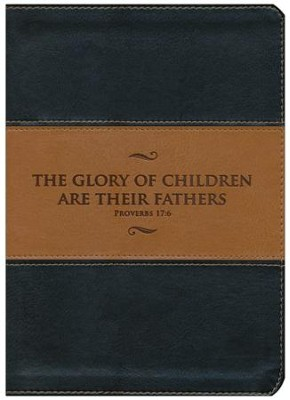 KJV Study Bible, Father's Edition--soft leather-look, black & tan  -