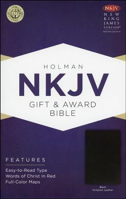 NKJV Gift and Award Bible, Black Imitation Leather  -