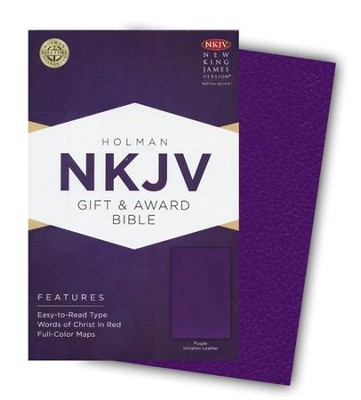 NKJV Gift and Award Bible, Purple Imitation Leather  -