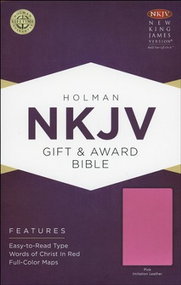 NKJV Gift and Award Bible, Pink Imitation Leather  -