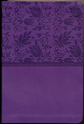 NKJV Large Print Personal Size Reference Bible, Purple LeatherTouch  -
