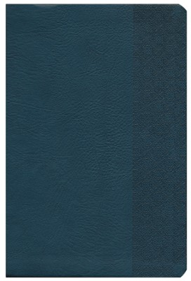 NKJV Giant Print Reference Bible, Slate Blue Imitation Leather  -