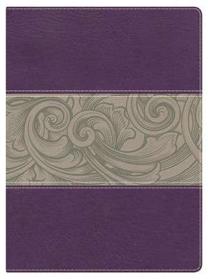 NKJV Holman Study Bible, Eggplant and Tan LeatherTouch, Thumb-Indexed  -