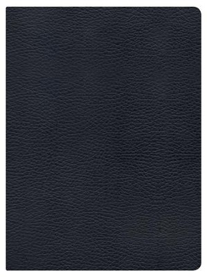 NKJV Holman Study Bible, Black Genuine Leather  - Imperfectly Imprinted Bibles  -