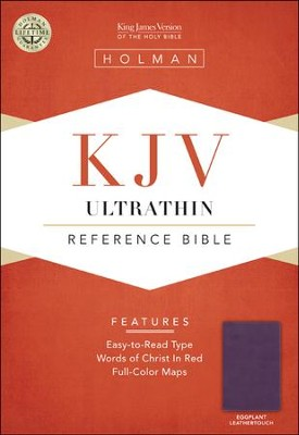 KJV UltraThin Reference Bible, Eggplant LeatherTouch  -