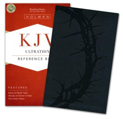 KJV UltraThin Reference Bible, Charcoal LeatherTouch  -