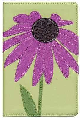NIV Compact Bible, Purple Coneflower   -