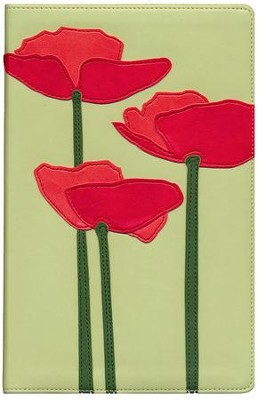 NIV Thinline Bible Bloom Collection; Red Poppies   -