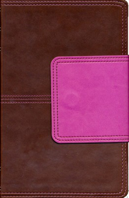 KJV UltraThin Reference Bible, Brown and Pink LeatherTouch with Magnetic Flap  -