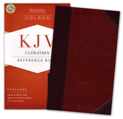 KJV UltraThin Reference Bible, Classic Mahogany LeatherTouch  -