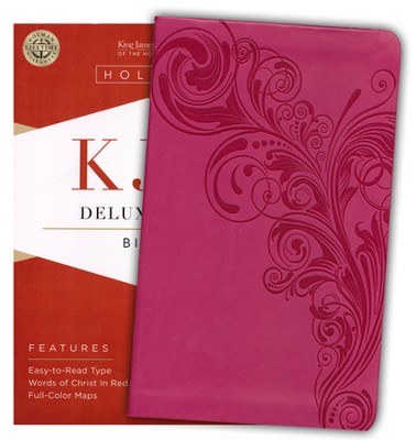 KJV Deluxe Gift Bible, Pink LeatherTouch  -
