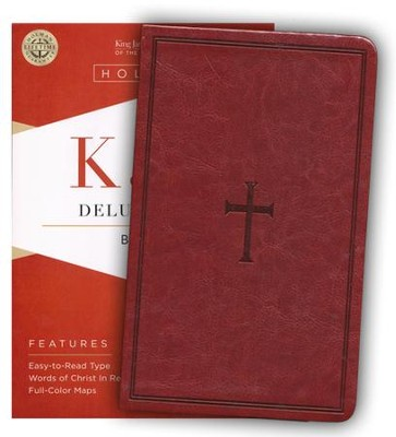 KJV Deluxe Gift Bible, Brown LeatherTouch  -