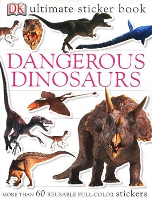 Ultimate Sticker Book: Dangerous Dinosaurs  -