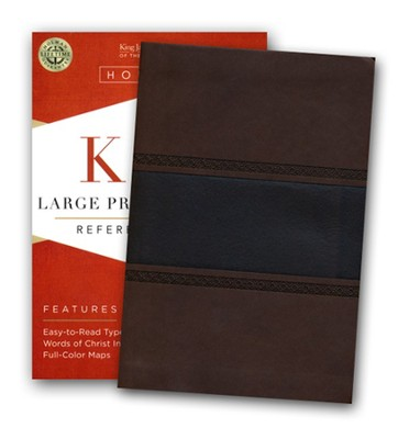 KJV Large Print Compact Reference Bible, Brown and Chocolate LeatherTouch  -