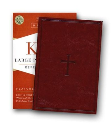 KJV Large Print Compact Reference Bible, Brown LeatherTouch  -