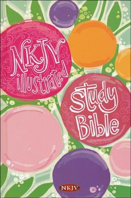 NKJV Illustrated Study Bible for Kids, Girls Edition, Hardcover  -