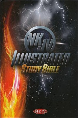NKJV Illustrated Study Bible for Kids, Boys Edition, Hardcover - Imperfectly Imprinted Bibles  -