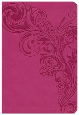 KJV Super Giant Print Reference Bible, Pink LeatherTouch - Slightly Imperfect  -