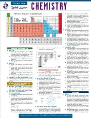 Chemistry - Quick Access Reference Chart  -     By: REA Editors