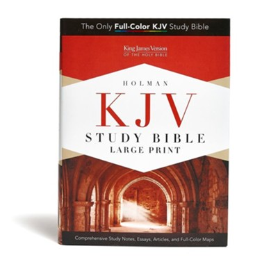 KJV Study Bible Large Print Edition, Hardcover  -