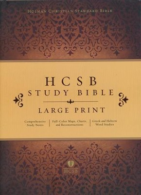 HCSB Study Bible, Large Print - Hardcover   -