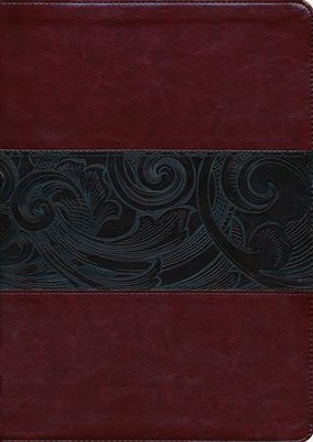 HCSB Large Print Study Bible, Mahogany LeatherTouch, Thumb-Indexed  -
