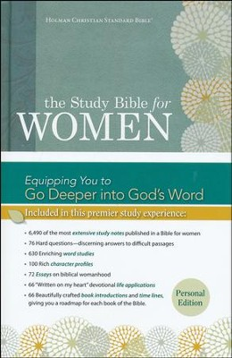 HCSB Study Bible for Women, Personal Size Edition--hardcover  -