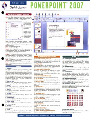 Power Point 2007 - Quick Access Reference Chart  -     By: REA Editors