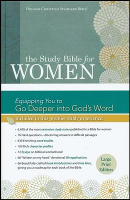 HCSB Study Bible for Women, Large-Print Edition--hardcover  -