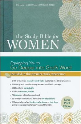 HCSB Study Bible for Women, Large-Print Edition--hardcover, indexed  -