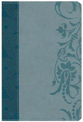 HCSB Study Bible for Women, Large-Print Edition Soft Leather-look, Teal/sage  -