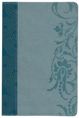 HCSB Study Bible for Women, Large-Print Edition Soft Leather-look, Teal/sage (indexed)  -