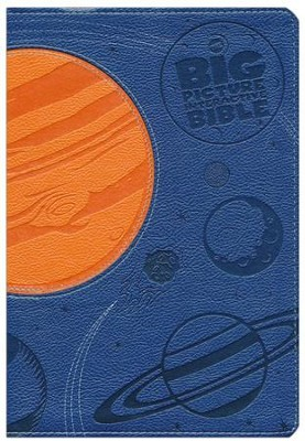 NKJV Big Picture Interactive Bible, Blue and Orange LeatherTouch  -