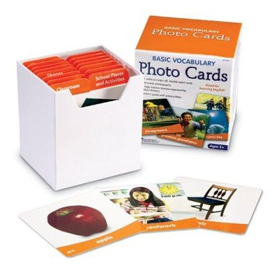 Building Basic Vocabulary Photo Card Set  -