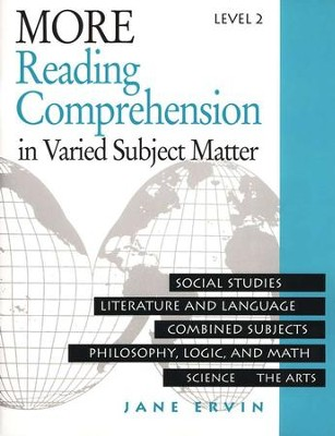 More Reading Comprehension Level 2, Grade 10                       -     By: Jane Ervin