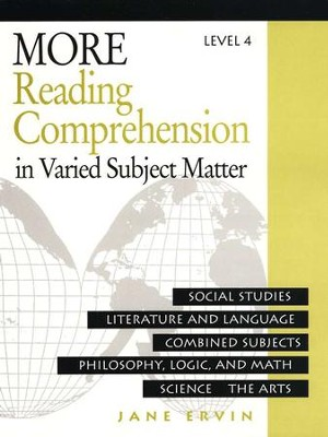 More Reading Comprehension in Varied Subject Matter, Level 4, Grade 12    -     By: Jane Ervin
