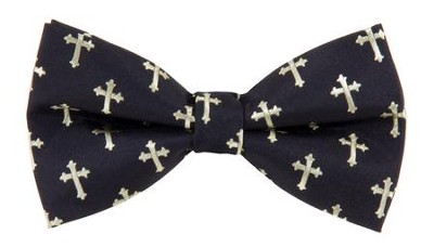 Cross Bow Tie, Black  -