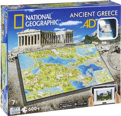 4D National Geographic, Ancient Greece, Cityscape Puzzle  -