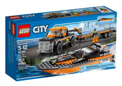 LEGO ® City 4x4 Pickup with Powerboat   -