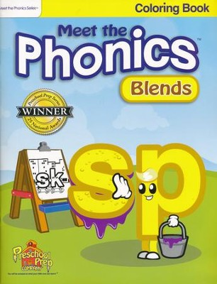 Meet the Phonics: Blends Coloring Book   -