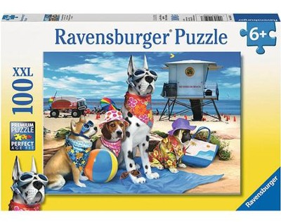 No Dogs on the Beach, 100 Piece Puzzle  -
