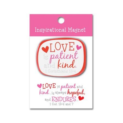 Love is Patient Love is Kind Magnet  -