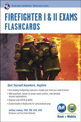 Firefighter Exams Flashcard Book with e-Flashcards  -     By: Jeffrey Lindsey
