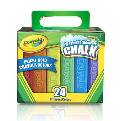 Crayola, Washable Sidewalk Chalk Pack, 24 Pieces  -
