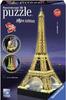 Eiffel Tower 3D Puzzle, Night Edition  -