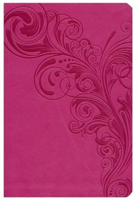 NKJV Giant Print Reference Bible, Pink LeatherTouch, Thumb-Indexed  -