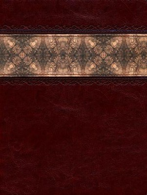 HCSB Apologetics Study Bible, Cinnamon & Brocade LeatherTouch, Thumb-Indexed  -